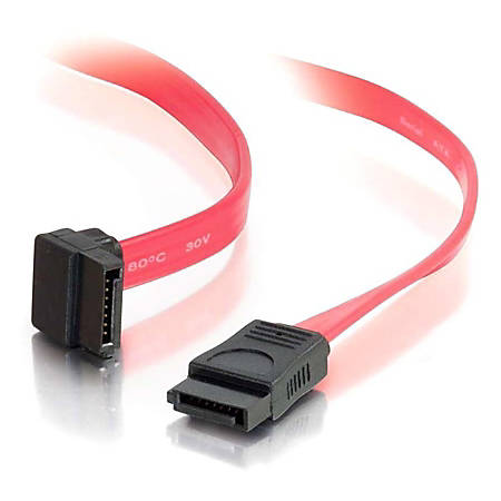 C2G 6in 7-pin 180° to 90° 1-Device Serial ATA Cable