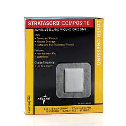Stratasorb Composite Island Dressings 4 x