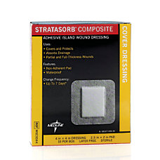Stratasorb Composite Island Dressings 4 x