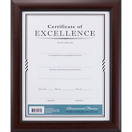plastic document frame 8 12 x - Document Frames 85 X 11