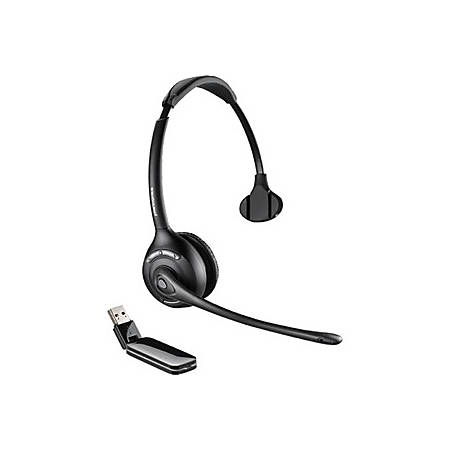 Plantronics® W410 Over-The-Head Wireless Noise Cancelling Headset, Black