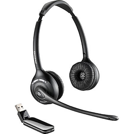 Plantronics® W410M Over-The-Head Wireless Noise Cancelling Headphones, Black