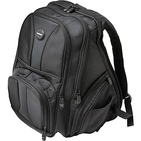 "Kensington® Contour Carrying Case Backpack With 15.6"" Laptop Pocket, Black"