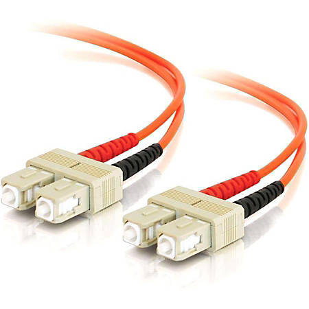 C2G 30m SC-SC 62.5/125 OM1 Duplex Multimode PVC Fiber Optic Cable (USA-Made) - Orange