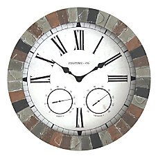 FirsTime Co Garden Stone Outdoor Clock