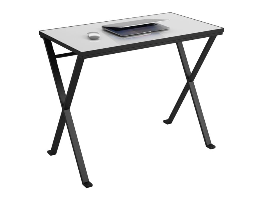 Ameriwood Prism Tempered Glass Desk With Interchangeable Color