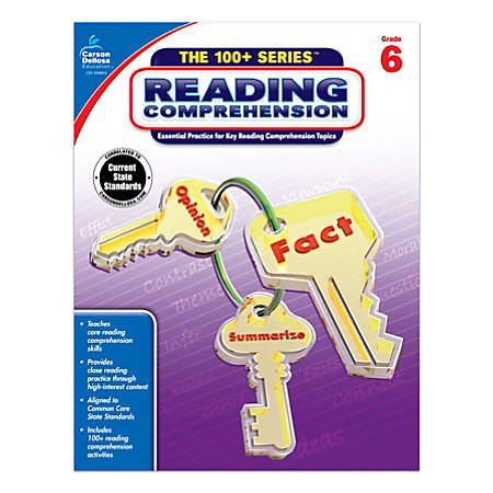 Carson-Dellosa™ 100+ Series™ Reading Comprehension Workbooks, Grade 6