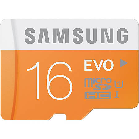 Samsung Micro Secure Digital High Capacity (microSDHC™) Memory Card, 16GB