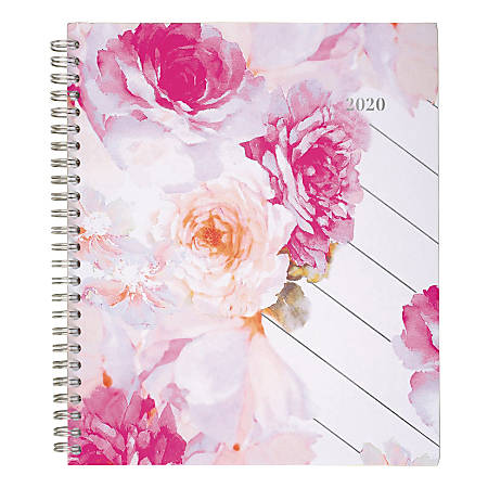 """Cambridge® Anastasia Monthly Planner With Notes Pages, 8-3/4"""" x 7"""", Multicolor, January To December 2020, 1261-802"""