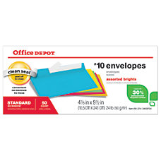 Office Depot Brand Brights Invitation Envelopes