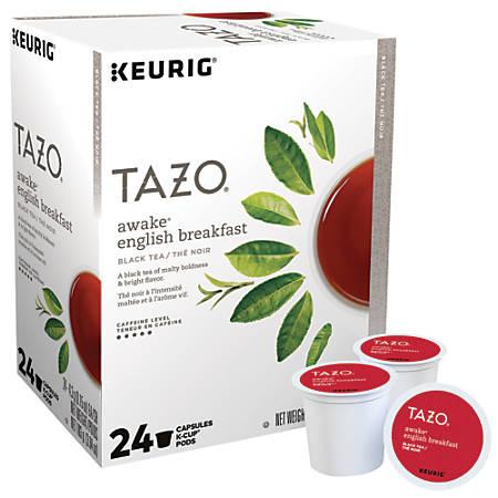 Tazo® Awake Tea Single-Serve K-Cups®, 3.64 Oz, Carton Of 24