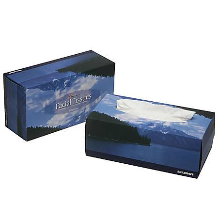 Facial Tissue, 66 Sq. In., 6 Boxes Per Pack (AbilityOne 8540-00-281-8360)