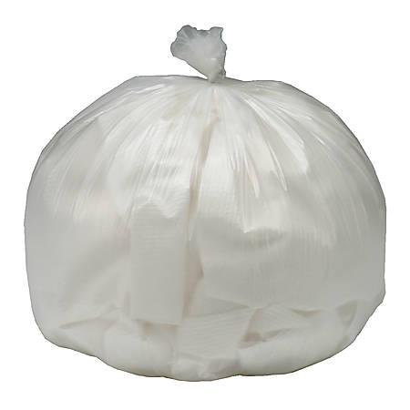 Medium-Duty Clear Plastic Trash Bags, 10 Gallons, Box Of 250 (AbilityOne 8105-01-195-8730)