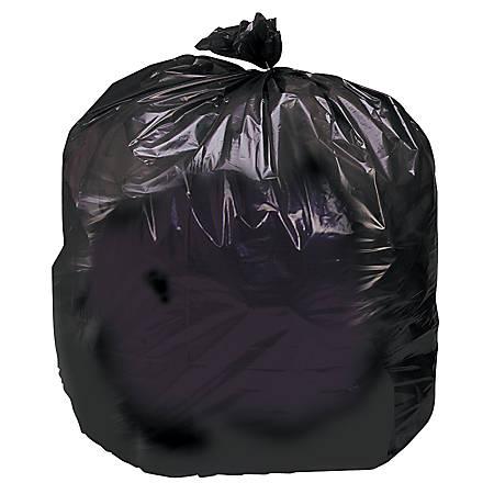 Heavy-Duty Dark Brown Trash Bags, 33 Gallons, Box Of 125 (AbilityOne 8105-01-183-9769)