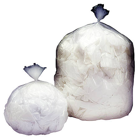 Medium-Duty Clear Plastic Trash Bags, 33 Gallons, Box Of 125 (AbilityOne 8105-01-183-9768)