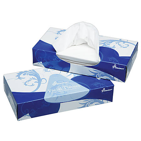 Facial Tissue, 66 Sq. In., 12 Boxes Per Pack (AbilityOne 8540-00-793-5425)
