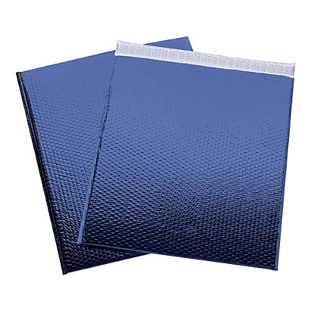 "Office Depot® Brand Glamour Bubble Mailers, 22-1/2""H x 19""W x 3/16""D, Blue, Pack Of 48 Mailers"