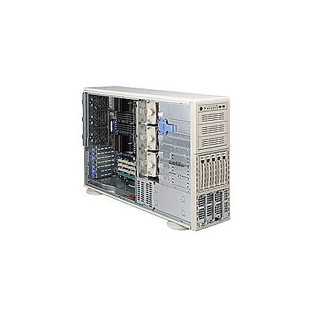 Supermicro A+ Server 4041M-T2RB Barebone System - nVIDIA MCP55 Pro - Socket F (1207) - Opteron (Quad-core), Opteron (Dual-core) - 1000MHz Bus Speed - 64GB Memory Support - Gigabit Ethernet - 4U Tower