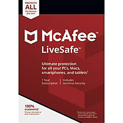McAfee LiveSafe For PCMac Download Version