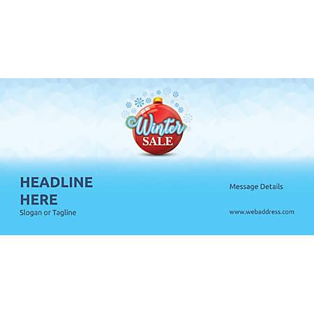 Custom Horizontal Banner, Winter Sale