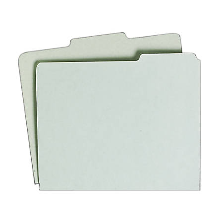 File Guide Card Sets, 1/3 Cut, 1st Position, Letter Size, 50% Recycled, Green, Pack Of 100 (AbilityOne 7530-00-988-6515)