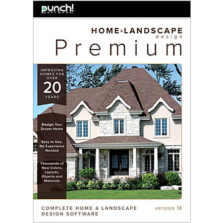 Punch software home and landscape design premium v18 Punch home and landscape design professional