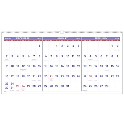 at a glance 3 month 15 month reference horizontal wall calendar 23