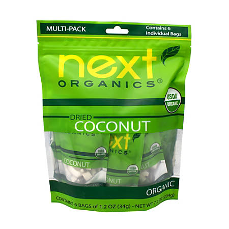 NEXT ORGANICS Dried Coconut Multipacks, 1.2 oz, 6 Count, 2 Pack