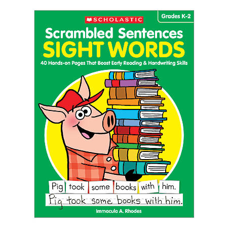 Scholastic Teacher Resources Activity Book Scrambled Sentences, Sight Words, Grades K-2