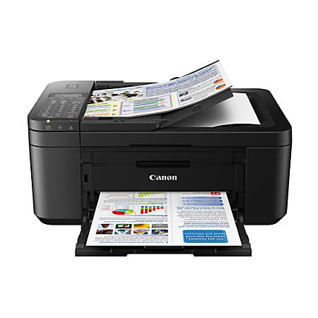 Canon PIXMA™ TR4520 Wireless Color Inkjet All-In-One Printer, Scanner, Copier, Fax, Black, 2984C002