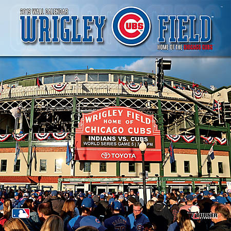 """Turner Sports Monthly Wall Calendar, 12"""" x 12"""", Chicago Cubs Wrigley Field, January to December 2019"""