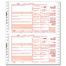 ComplyRight 5498 Continuous Tax Forms Copies