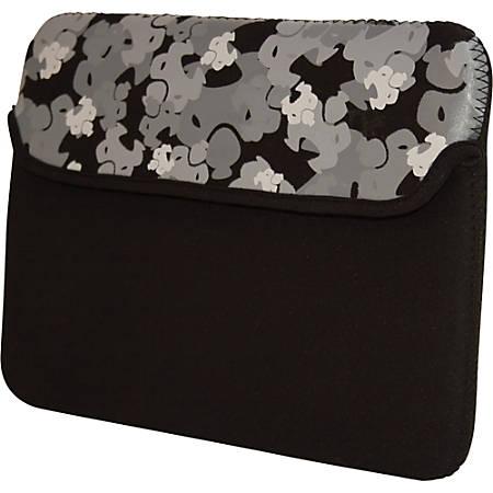 "SUMO Camo iPad Sleeve (Black) - Sleeve - 8.9"" Screen Support - Neoprene - Black"