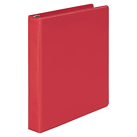 "Wilson Jones® Binder, 1"" Rings, 46% Recycled, Red"