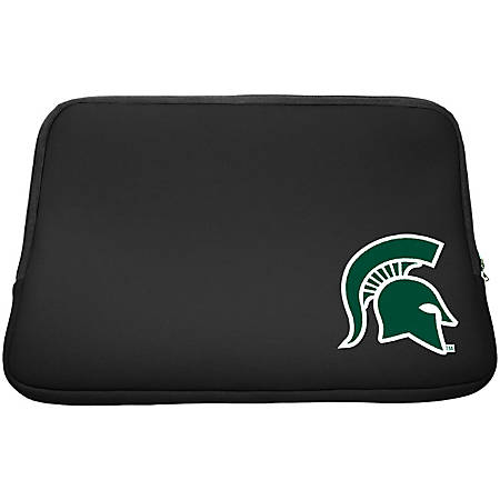 "Centon LTSC15-MSU Carrying Case (Sleeve) for 15.6"" to 16"" Notebook - Black - Bump Resistant - Neoprene, Faux Fur Interior - Michigan State University Logo"