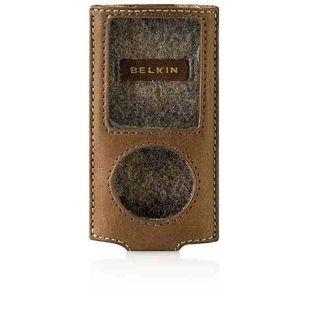 Belkin Eco-Conscious Sleeve for iPod - Leather - Walnut