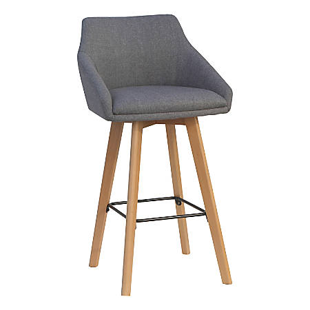 Lorell Flannel Guest Stools, Gray, Set Of 2 Stools