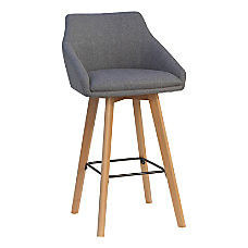 Lorell Flannel Guest Stools Gray Set