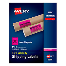 Avery High Visibility Shipping Labels AVE5974