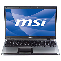 """MSI™ A5000-436US 15.6"""" LED-Backlit Widescreen Laptop Computer With Intel® Pentium® Dual-Core T4500 Processor"""