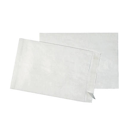 "Quality Park® Tyvek® Envelopes, 14 1/4"" x 20"", White, Box Of 25"