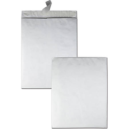 "Quality Park® Tyvek® Envelopes, 18"" x 23"", White, Box Of 25"