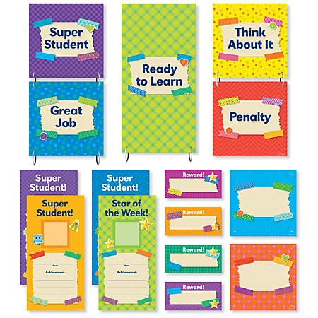 Scholastic Teacher's Friend Tape It Up! Behavior Clip Chart Mini Bulletin Board Set, Pre-K To Grade 6