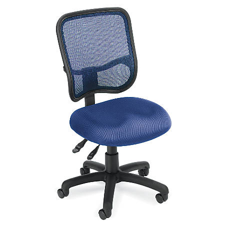 OFM Mesh Comfort Series Fabric Mid-Back Ergonomic Task Chair, Navy/Black