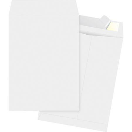"""Business Source Tyvek Open-end Envelopes - Document - #13 1/2 - 10"""" Width x 13"""" Length - Peel & Seal - Tyvek - 100 / Box - White"""