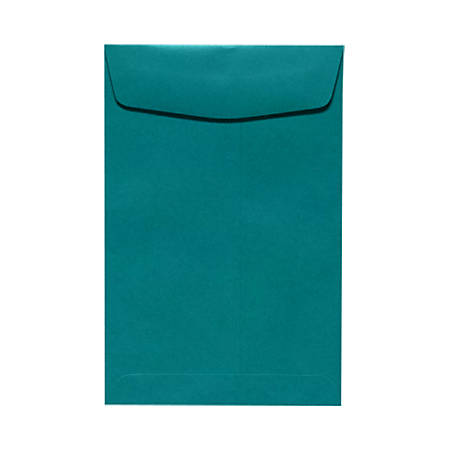 """LUX Open-End Envelopes With Peel & Press Closure, #6 1/2, 6"""" x 9"""", Teal, Pack Of 50"""