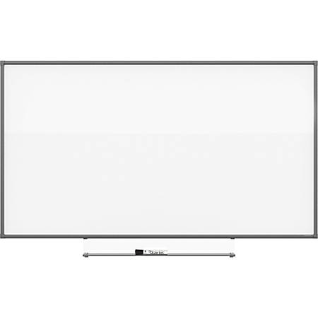 "Quartet Silhouette 85""x48"" Total Erase Board - 48"" (4 ft) Width x 85"" (7.1 ft) Height - White Melamine Surface - Rectangle - Assembly Required - 1 Each"