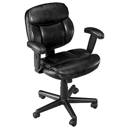 Brenton Studio® Ariel Low-Back Task Chair, Black