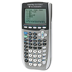 Texas InstrumentsR TI 84 Plus Silver Edition Graphing Calculator