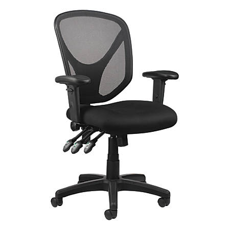 Reale Mftc 200 Mesh Multifunction Ergonomic Mid Back Task Chair Black